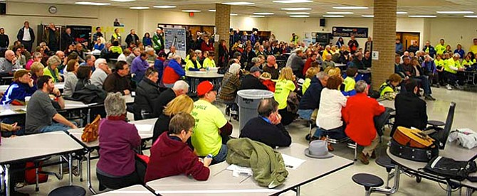 More than 300 people attended Rescue Reston Rally on Saturday, Jan. 10.