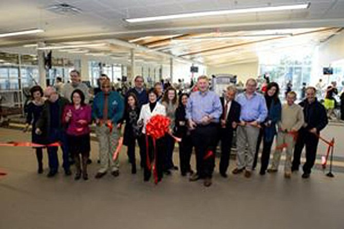 Fairfax County Board of Supervisors Chairman Sharon Bulova and Supervisor John Foust (D-Dranesville) join representatives from the Fairfax County Park Authority, McLean Youth Athletics, Park Authority staff and community leaders at the ribbon-cutting ceremony.