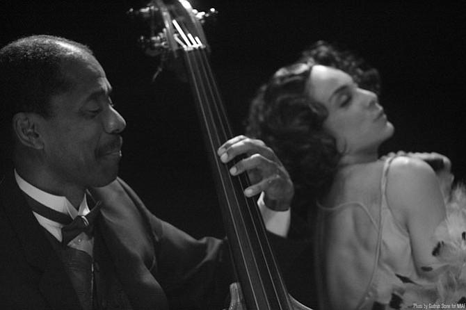 "Avery Sharpe and Jasmine Guy in ""Raisin' Cane: A Harlem Renaissance Odyssey."""