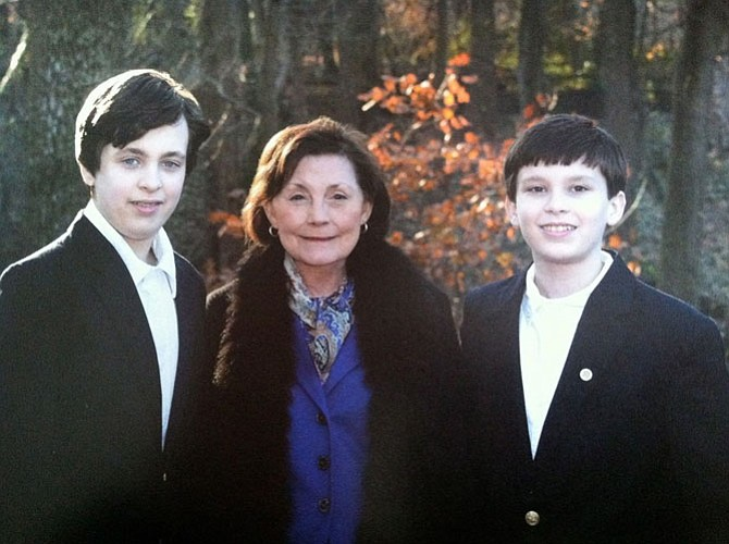 "State Sen. Linda T. ""Toddy"" Puller with her grandsons, Ben and Charles."