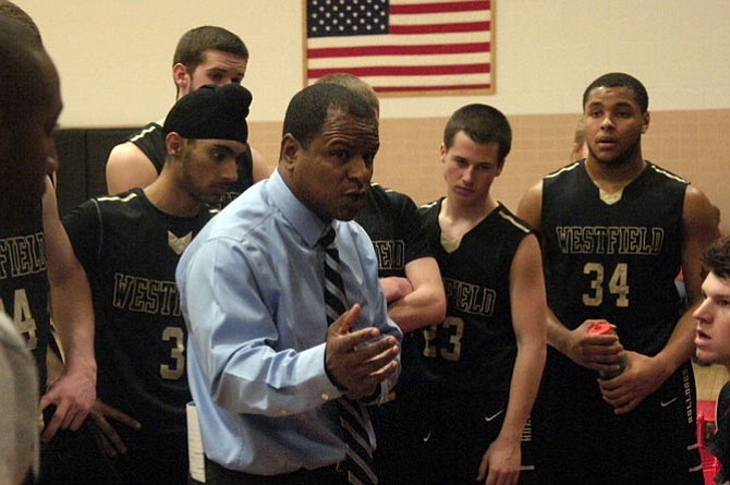 Head coach Doug Ewell and the Westfield boys' basketball team improved to 13-1 with a win over Herndon on Jan. 16.