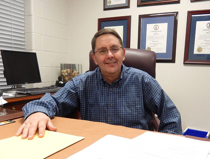 Michael Frey at his desk in the Sully District Governmental Center.