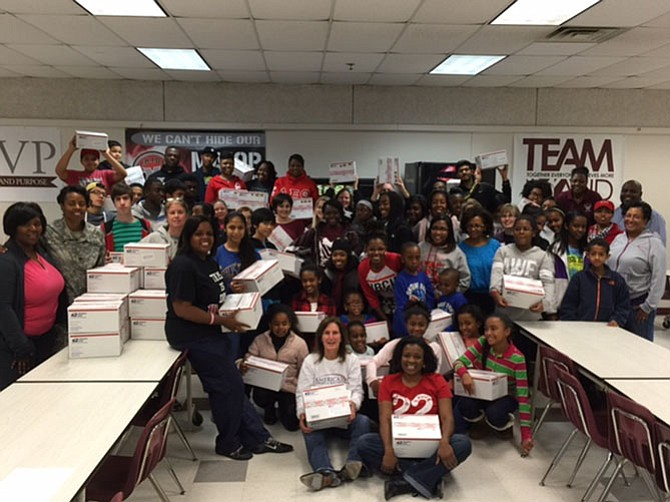 More than 200 Mount Vernon High School students and members of the community came out Jan. 19 to fill care packages for deployed soldiers with America's Adopt A Soldier.