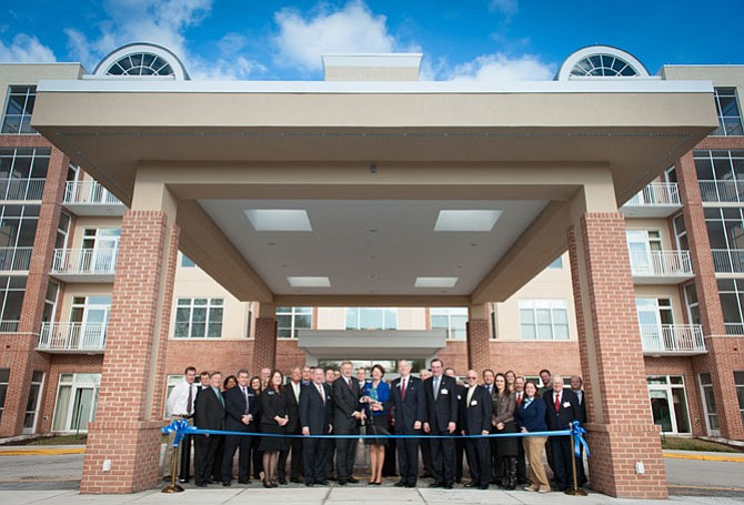 Ribbon cutting ceremony for the Navy Marine Coast Guard and Vinson Hall Retirement Community's new independent living apartment building and community center on Jan. 22.
