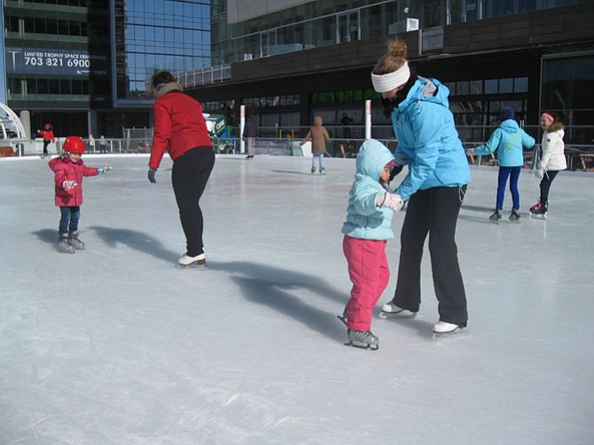 The Tysons Corner Ice Rink is now opened.