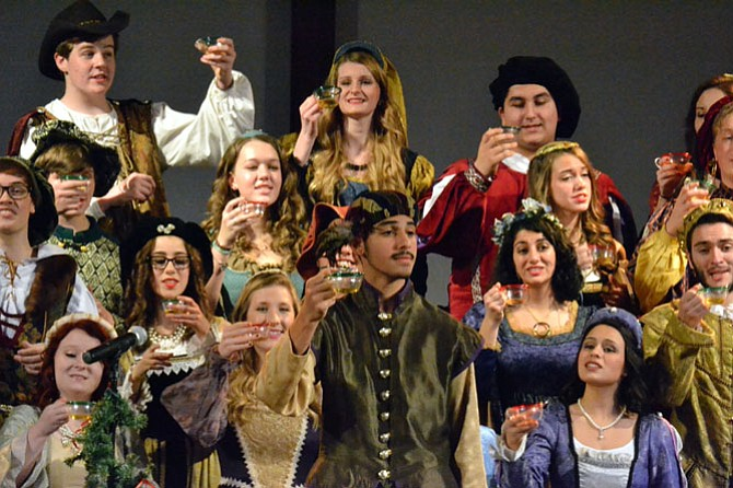 The Langley High Madrigals were joined by the Langley Women's Chamber Choir in presenting the school's annual Renaissance Feaste on Dec. 5 and 6 at the Capital Church in Vienna.