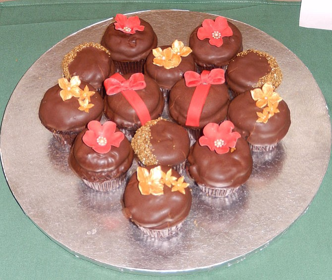 Some decorated cupcakes in last year's Chocolate Challenge.