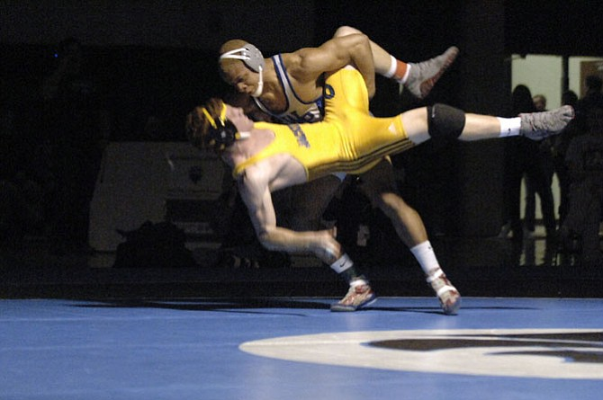 Joshua Carter was one of three West Potomac wrestlers to advance to the state meet.