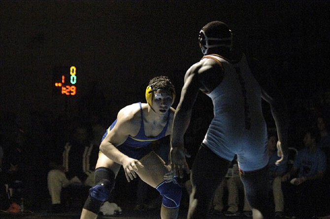 Robinson's Cole DePasquale won the 182-pound title at the 6A North region wrestling tournament on Feb. 14 at Centreville High School.