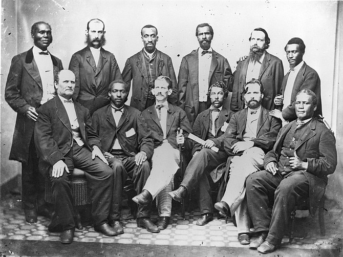 Alexandrians serving Virginia's first integrated jury for the trial of Jefferson Davis