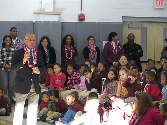 NASA Administrator Charles Bolden aiming to inspire Jefferson-Houston students.