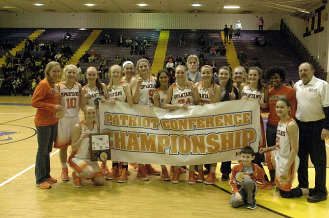 The West Springfield girls' basketball team captured its fifth Conference 7/Patriot District title in the last six years Tuesday night, beating South County 55-37 in the conference championship game at Lake Braddock Secondary School.