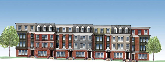 Artist's rendition of the two-over-two condos.