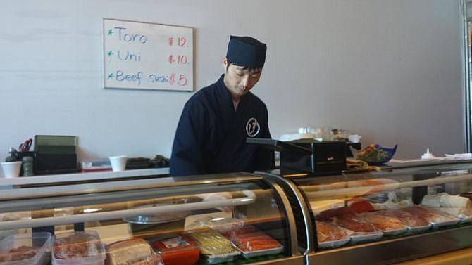 Chris Kim, chef at Kana Sushi.