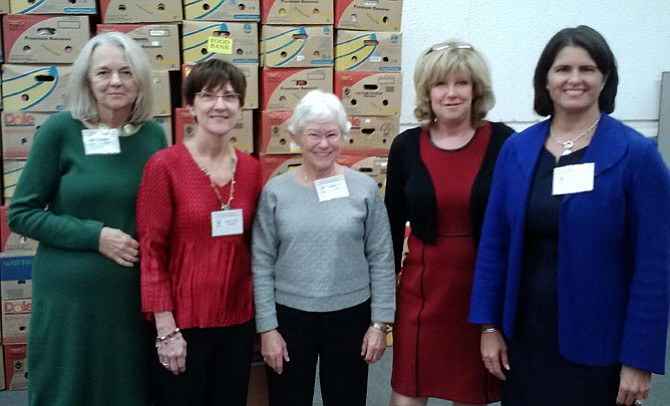 With UCM Board Chair Gigi Hyland (far right) are several newly elected board directors, including (from left) Claudia Creo, Suzy Coffey (President of The Friends of UCM), Abigail Arms, and Diane Brooks. Not pictured is Kenneth Disselkoen.
