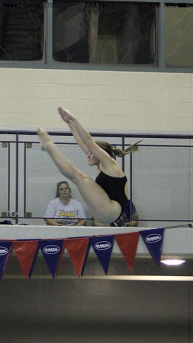 Churchill junior Elaina Faerber won the metro, region and state dive championships during her junior season.