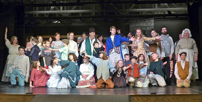 "The full cast of ""Oliver!"" the musical, opening at the Church of the Good Shepherd, spans ages 5 to 75."