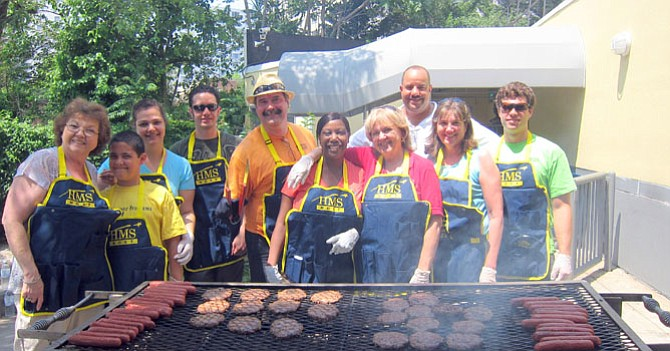 HMSHost held a 4th of July celebratory cookout, involving HMSHost families, who fed dozens and dozens of people, often those living on the streets, who come to the downtown Silver Spring program for meals and other basics.
