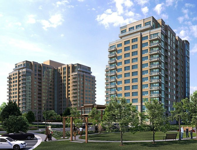 Rendering of the Harrison at Reston Town Center.