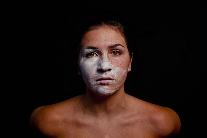 """Katie Douglas, """"Removing the Mask,"""" photograph from Emerging Visions, 2014"""