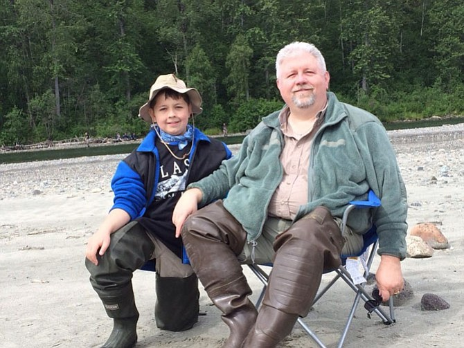 From left, Daniel Hillenburg and his father, Samuel, in Talkeetna, Alaska. Hillenburg is the first Boy Scout in the history of Troop 648, which dates back to 1950, to receive the Medal of Merit.