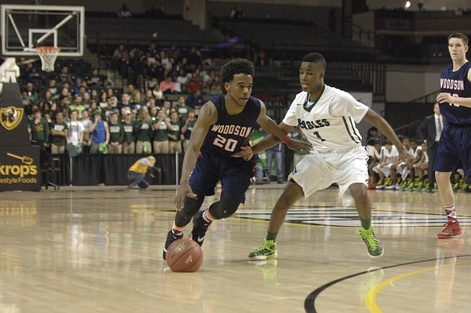 Senior point guard Eric Bowles led Woodson with 20 points during the Cavaliers' 59-51 loss to Colonial Forge during the 6A boys' basketball state semifinals on Friday at VCU's Siegel Center.