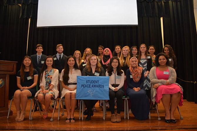 Student leaders and promoters of nonviolence were recognized March 15 at the Student Peace Awards of Fairfax County, held at Mountain View Alternative High School in Centreville.