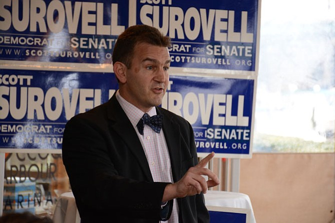 State Sen. Chap Petersen (D-34) endorses Del. Scott Surovell (D-44) for the 36th district senate seat.