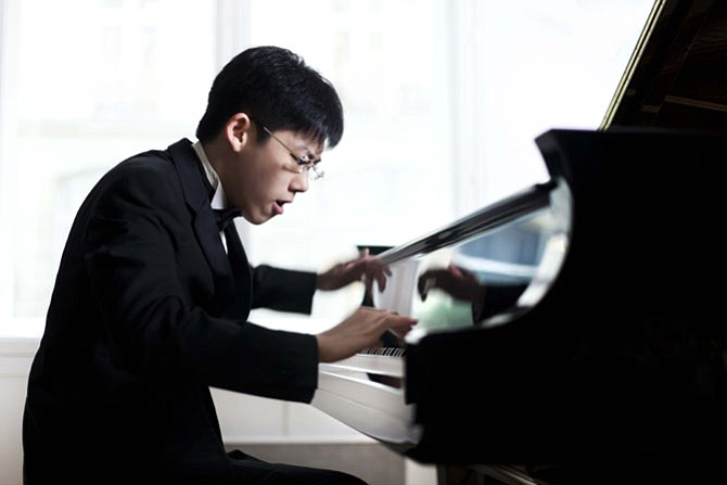 Pianist Haochen Zhang will perform with the National Philharmonic Orchestra.