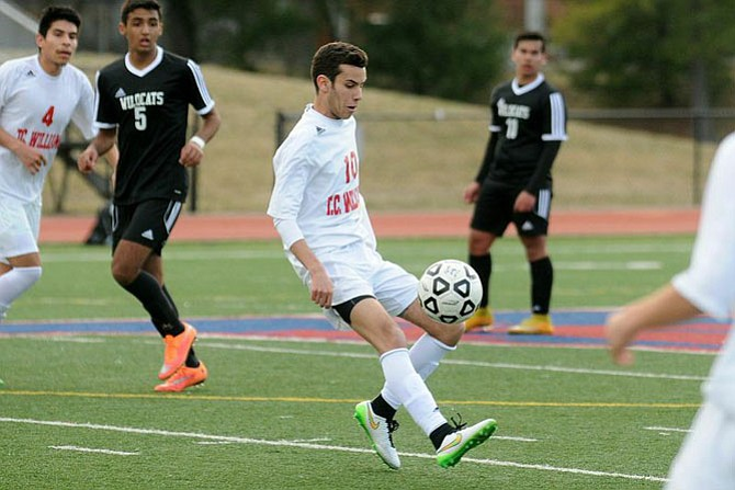 T.C. Williams senior midfielder Ramsey Benzina is one of the key returners from last season's state championship team.