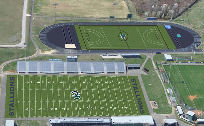 Two synthetic turf fields are planned to be installed at South County High School this summer.
