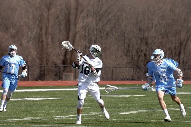 Langley senior Weston Simonides scored four goals during a 12-4 victory over Yorktown on March 21.