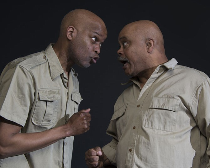 "Michael Anthony Williams and Doug Brown star in ""The Island,"" playing at MetroStage through April 26."