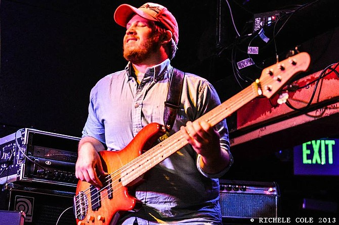 """Brian Zupruk, of """"Moogatu"""" plays bass and sings vocals for """"Eat Yer Meat."""""""