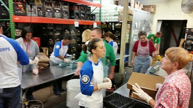 Chicken bagging for the Arlington Food Assistance Center September 2014.