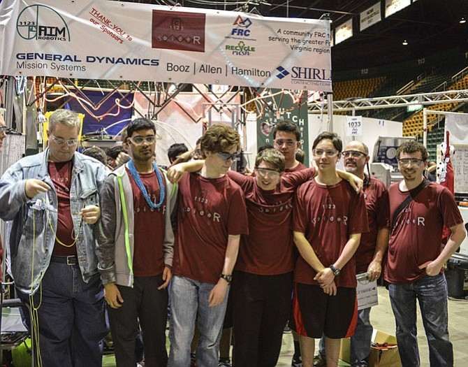 Lorton team comprises many home schooled students. From left: Nikhil Nair, Aldie, Keegan O'Brien, Fairfax, William Mills, Alexandria, Pranav Ramnam, Lorton, Johnathan Peace, Fairfax Station, and Connor Feldpausch, Alexandria.