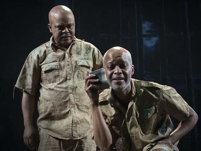 "Michael Anthony Williams and Doug Brown star in MetroStage's production of ""The Island."""