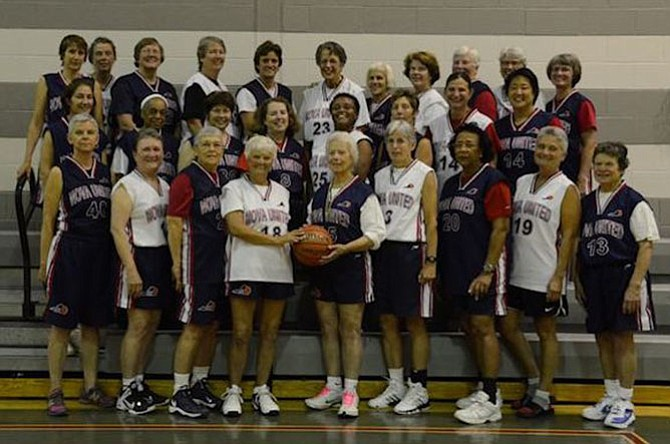 Women of the Nova United, part of the National Senior Women's Basketball Association get exercise with a team sport. They are part of a new fitness trend.