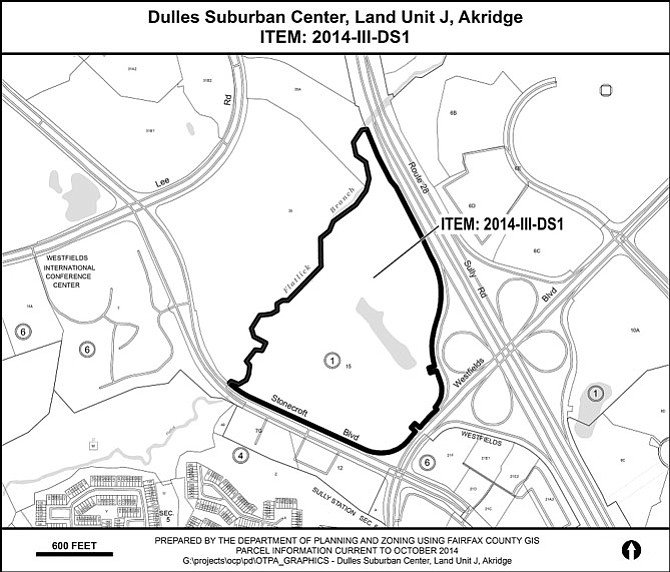 The Akridge site is along Route 28 and Stonecroft and Westfields boulevards in the Sully District.