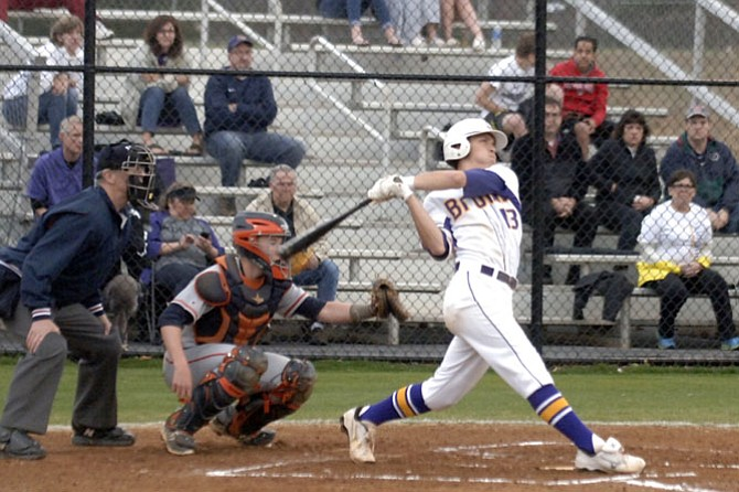 Lake Braddock shortstop Nick Neville hit his first home run of the season against West Springfield on Tuesday.