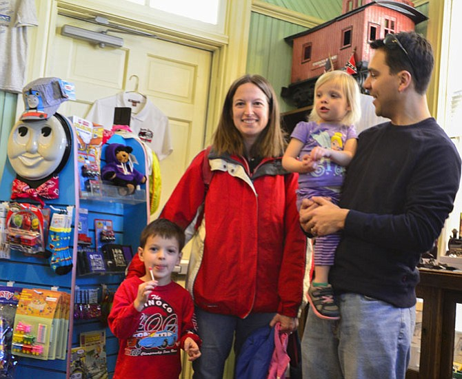 The Falck Family of Burke visiting the gift shop. From left: August, Catherine, Stephanie and Chris Falck.