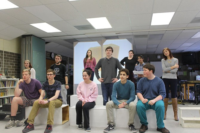 """Langley High School presents """"Book of Days,"""" a murder mystery that raises questions about small town politics and society. Playing April 23-25 at 7 p.m. at Hunter Woods Elementary School,  2401 Colts Neck Road, Reston."""