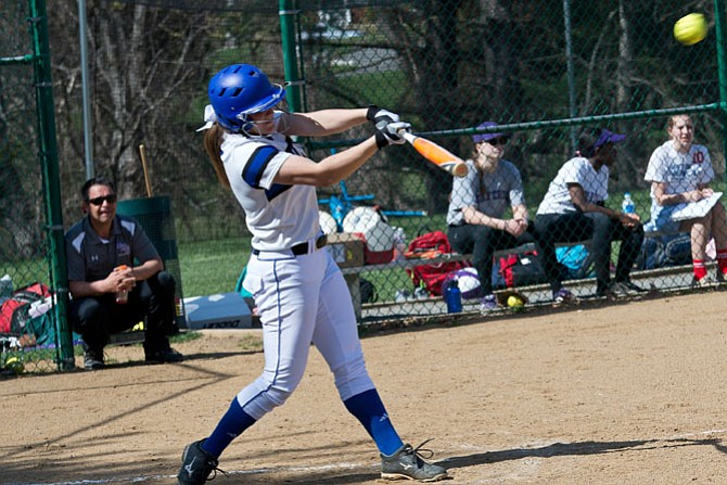 Sophomore transfer Patty Maye Ohanian has been a key addition for the Bishop O'Connell softball team.