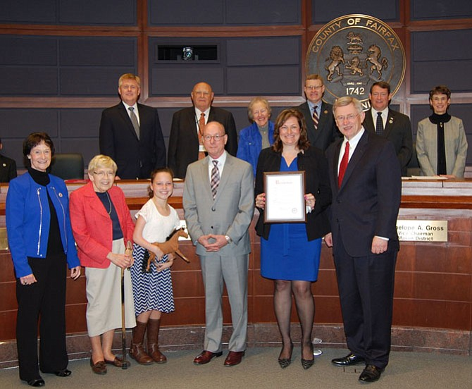 Board of Supervisors honored Lift Me Up, the therapeutic riding program located in Great Falls, for its 40th anniversary celebration.