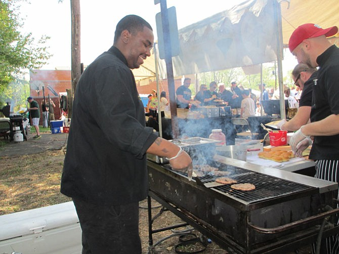 The aroma of cooking food permeates the air on Saturday, April 25, at the Taste of Vienna, presented on the grounds of the Vienna Volunteer Fire Department.