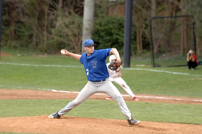 Fairfax senior Christian Leckert threw a three-hit shutout against McLean on April 17.