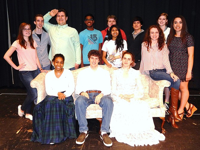 Back row, from left, are David Strauch, CJ Robinson, Kholied Bashri, Andrew Lindgren, Santiago Jauregui and Monica Hopkins; (middle row, from left) are Emily Hoffman, Amita Rao, Cameron Daly and Reem Alul; and, front row, from left are Zainab Barry, Joshua Ewalt and Miranda Newman.