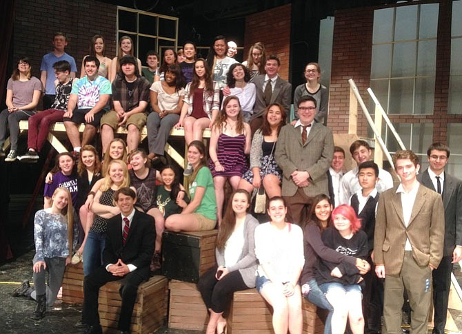 "The cast and crew of Chantilly High's upcoming production of ""Radium Girls."""