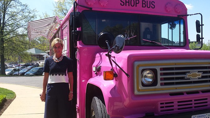 Elizabeth Mason, founder of The Pink Armoire, which provided clothing used in the fashion show.