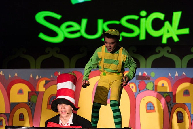 Blaise Majewski as the Cat in the Hat and Creed Baumen as JoJo. Catch Seussical, the Musical Jr. 7:30 p.m. on April 24. 1:30 & 7:30 p.m. on April 25 at the Family Worship Center, 7719 Fullerton Road, Springfield.